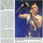 Presse-Artikel der Rammstein-Coverband Brandstein - Halle101