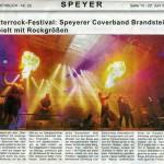 Presse-Artikel der Rammstein-Coverband Brandstein - Durchblick